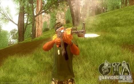 Автомат Калашникова HD для GTA San Andreas шестой скриншот