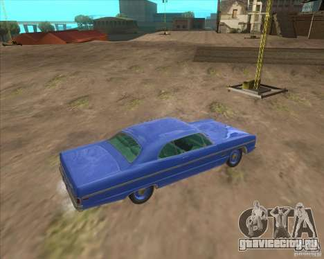 Plymouth Fury III coupe 1969 для GTA San Andreas вид сзади