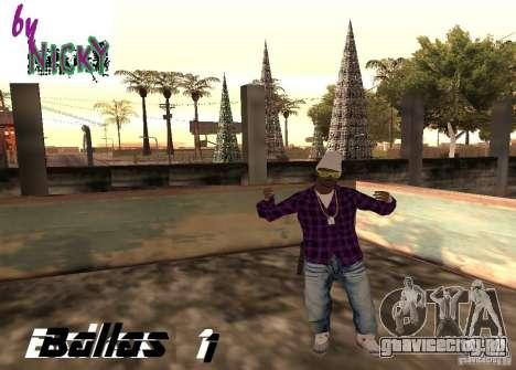 Пак скинов Ballas для GTA San Andreas