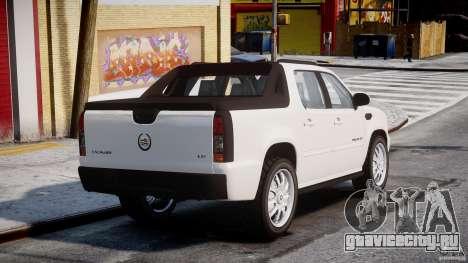 Cadillac Escalade Ext для GTA 4 вид сзади слева