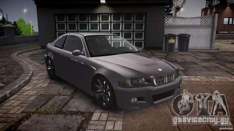 BMW 3 Series E46 v1.1 для GTA 4 вид сзади