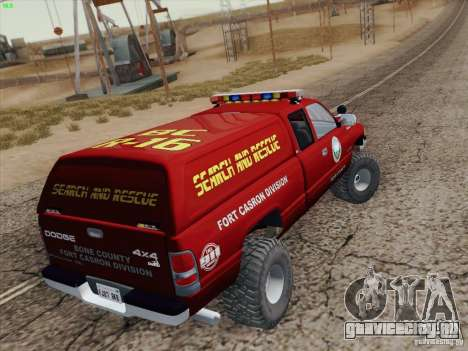 Dodge Ram 3500 Search & Rescue для GTA San Andreas двигатель