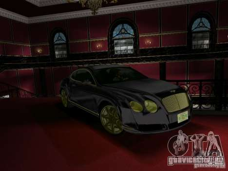 Bentley Continental GT для GTA Vice City вид справа