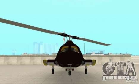 Airwolf для GTA San Andreas вид сзади
