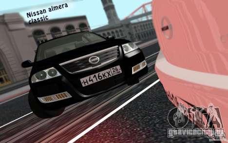 Nissan Almera Classic для GTA San Andreas вид сзади слева