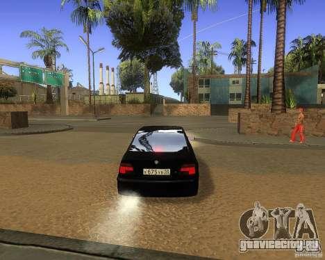 BMW 525i e39 для GTA San Andreas вид сзади