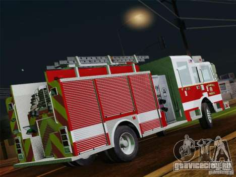 Pierce Pumpers. San Francisco Fire Departament для GTA San Andreas вид сверху