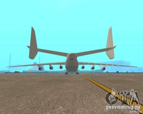 АН-225 Мрия для GTA San Andreas вид сзади слева
