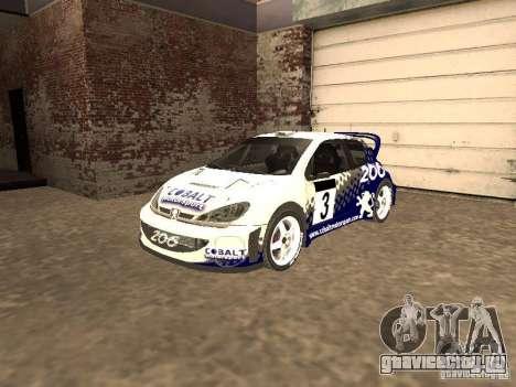 Peugeot 206 WRC из Richard Burns Rally для GTA San Andreas