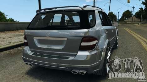 Mercedes-Benz ML63 AMG Brabus для GTA 4 вид сзади слева
