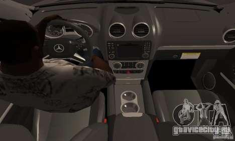Mercedes Benz ML63 AMG для GTA San Andreas вид справа