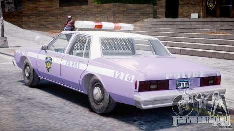 Chevrolet Impala Police 1983 v2.0 для GTA 4 вид справа
