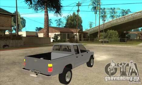 Toyota Hilux CD для GTA San Andreas вид справа