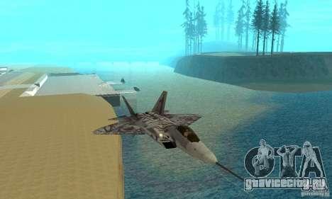 YF-22 Starscream для GTA San Andreas вид изнутри
