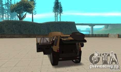 Land Rover Freelander KV6 для GTA San Andreas вид изнутри
