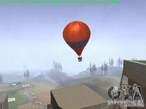 Воздушный шар в стиле хиппи для GTA San Andreas вид слева