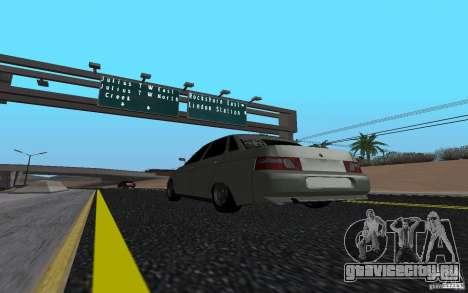 ВАЗ 2110 Light Tuning для GTA San Andreas вид слева
