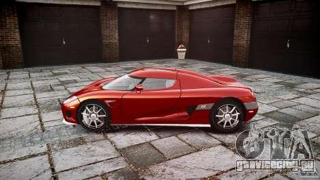 Koenigsegg CCX v1.1 для GTA 4 вид сзади