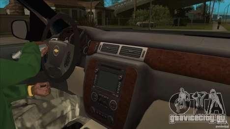 Chevrolet Cheyenne 2011 для GTA San Andreas вид изнутри