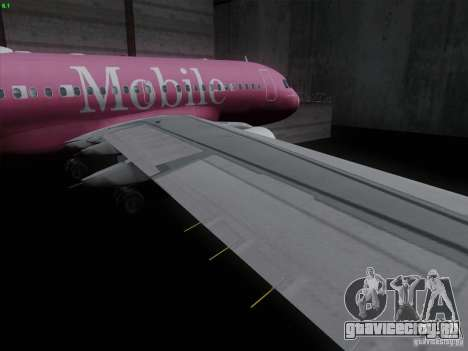 Airbus A319 Spirit of T-Mobile для GTA San Andreas вид изнутри