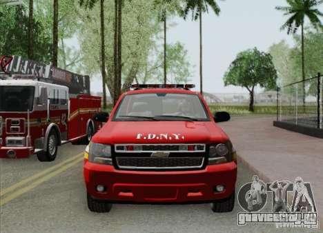 Chevrolet Suburban EMS Supervisor 862 для GTA San Andreas двигатель
