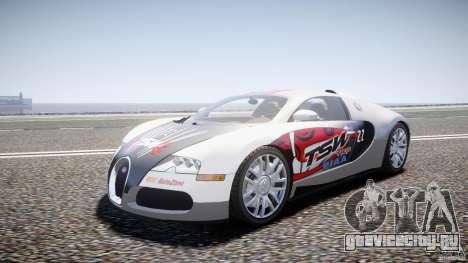 Bugatti Veyron 16.4 v1 для GTA 4 вид сзади