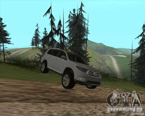 Toyota Highlander для GTA San Andreas вид изнутри