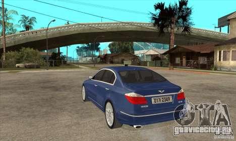 Hyundai Genesis для GTA San Andreas вид слева