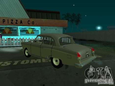 Газ 21 Волга для GTA San Andreas вид сзади слева