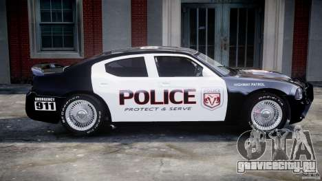 Dodge Charger SRT8 Police Cruiser для GTA 4 вид снизу
