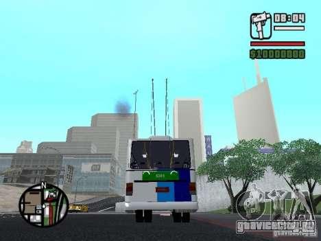 Cobrasma Monobloco Patrol II Trolerbus для GTA San Andreas вид сзади слева