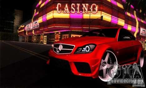 Mercedes Benz C63 AMG для GTA San Andreas