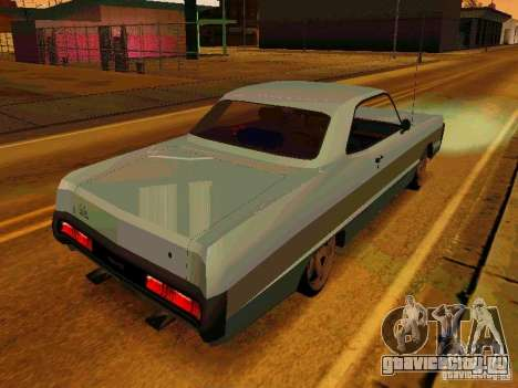 Plymouth Fury Sport 1970 для GTA San Andreas вид справа