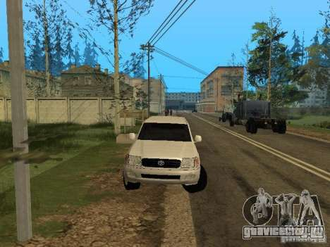 Toyota Land Cruiser 100 VX для GTA San Andreas вид изнутри