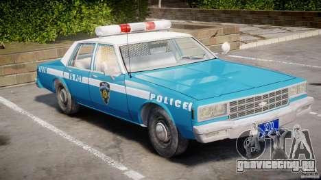 Chevrolet Impala Police 1983 v2.0 для GTA 4 вид слева