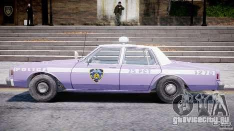 Chevrolet Impala Police 1983 v2.0 для GTA 4 вид сзади слева