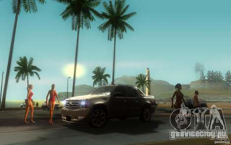 Cadillac Escalade EXT для GTA San Andreas вид сзади