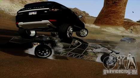 Flip Car из Furious 6 для GTA San Andreas вид изнутри