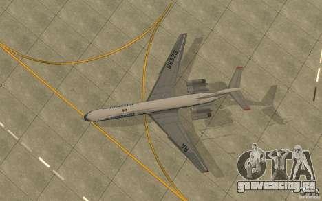 Ил-62М Аэрофлот для GTA San Andreas вид сзади