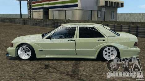 Mercedes-Benz 190Е 2.3-16 sport для GTA 4 вид слева