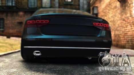 Audi A8 2010 для GTA 4 вид сзади слева