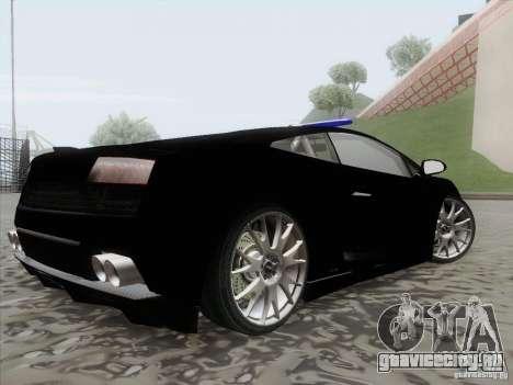 Lamborghini Gallardo LP-560 Police для GTA San Andreas вид слева