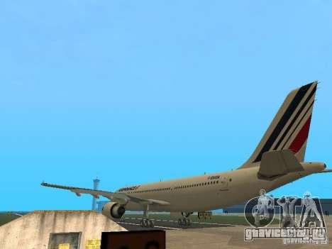 Airbus A300-600 Air France для GTA San Andreas вид справа
