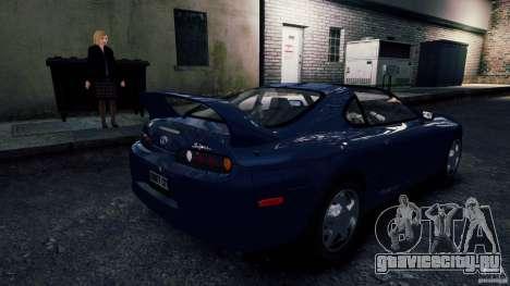 Toyota Supra RZ 1998 для GTA 4 вид сзади слева