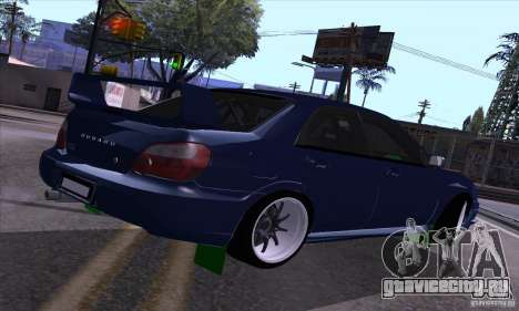 Subaru Impresa WRX light tuning для GTA San Andreas вид справа