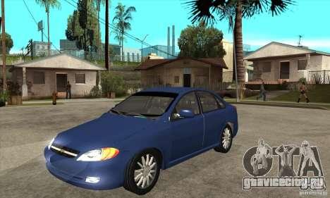 Chevrolet Optra 2011 для GTA San Andreas