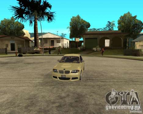 BMW 135i Coupe Stock для GTA San Andreas вид изнутри