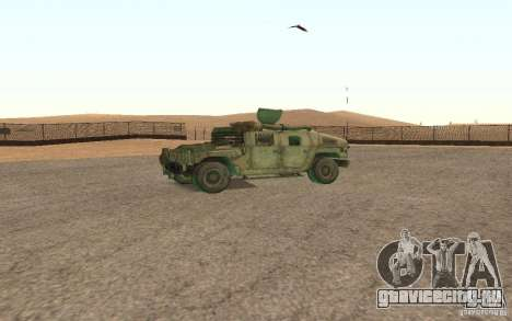 Hummer Spec Ops The Line для GTA San Andreas вид сзади