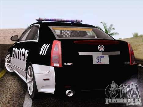Cadillac CTS-V Police Car для GTA San Andreas вид слева