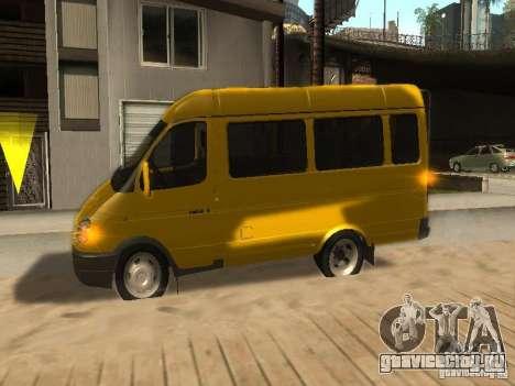 ГАЗель 2705 маршрутное такси для GTA San Andreas вид изнутри